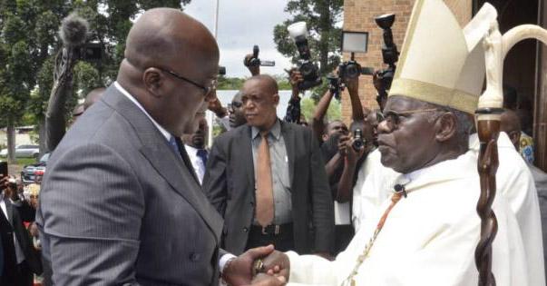 Monsengwo con el presidente del Congo